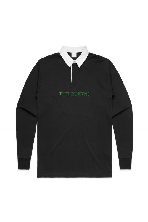 Black Rugby Jersey Rubens Embroidery by The Rubens