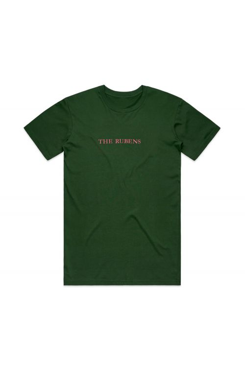 Pink Logo Embroidered/Green Tshirt by The Rubens