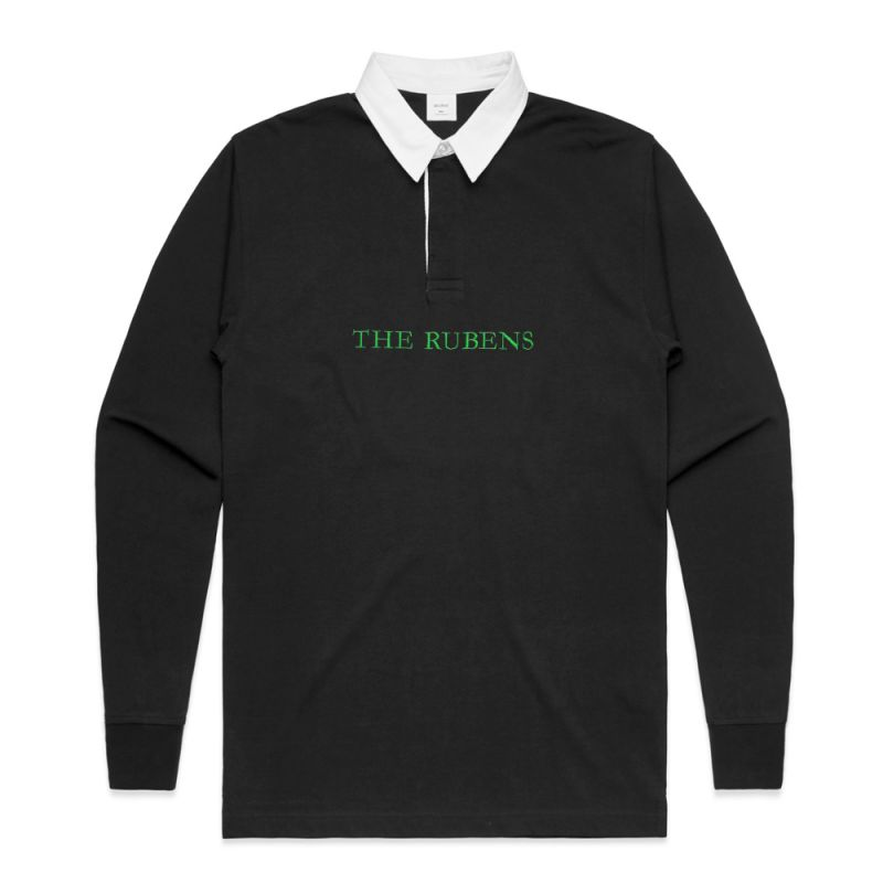 Black Rugby Jersey Rubens Embroidery