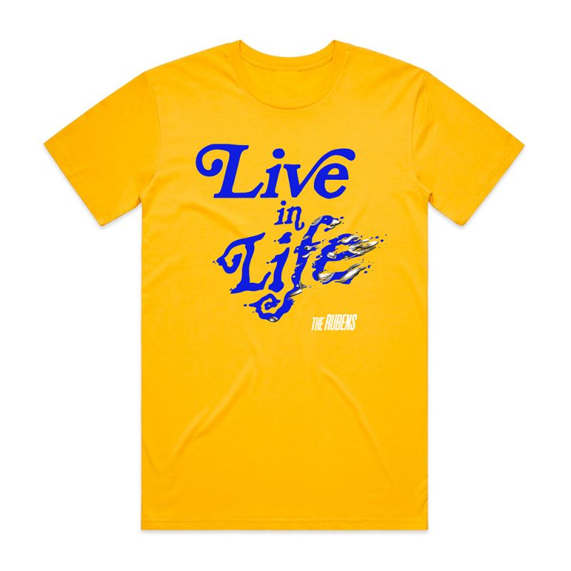 Live In Life Yellow Tshirt